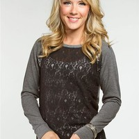 Lace Sequin Baseball Fleece