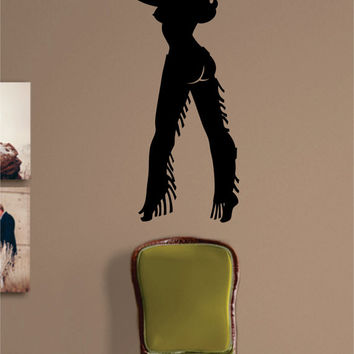 Cowgirl Silhouette Sexy Design Decal Sticker Wall Vinyl Decor Art