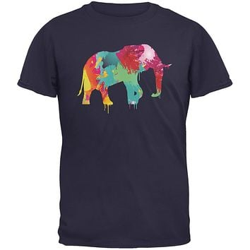 Splatter Elephant Navy Youth T-Shirt