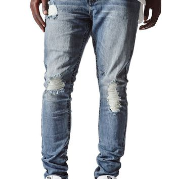 Bullhead Denim Co Stacked Skinny Bixel Jeans - Mens Jeans - Blue