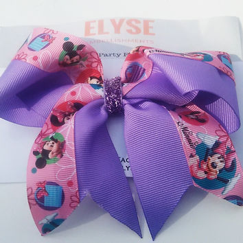 Minnie Cheer Bow - Minnie Pink Purple Bow