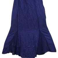 Womens Renaissance Skirt Hippie Gypsy Embroidered Medieval Style Maxi Skirts S/M: Amazon.ca: Clothing & Accessories