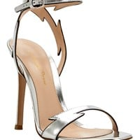 Gianvito Rossi - Metallic Lightening Bolt Sandals | Just One Eye