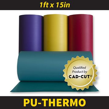 """CAD-CUT® Thermo-FILM® Heat Transfer Vinyl 15"""" Roll Width - 1 Foot (12 inches)"""