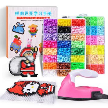 Perler Beads Kit 5mm/2.6mm Kit Hama beads Creative Handmade Craft Beads Toys 3D Puzzle with Ironing Accessories Whole Set Gift