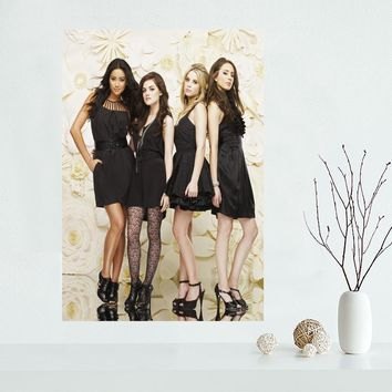 Custom canvas poster Pretty Little Liars canvas painting poster New arrival wall Art poster Fabric Cloth Print