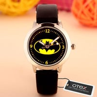 OTEX  Children Cute  Cartoon Watch Batman Pikachu   Version Quartz  Watch Snap Watches Kids Clock Relogio Feminino
