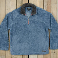 Southern Marsh Appalachian Pile Pullover- Washed Blue with Midnight Grey
