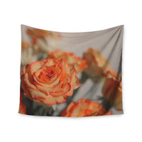 "Angie Turner ""Roses"" Orange Floral Wall Tapestry"