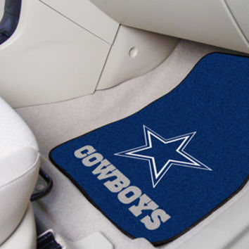 "NFL - Dallas Cowboys 2-piece Carpeted Car Mats 18""x27"""