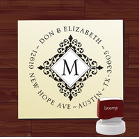 Custom SELF INKING stamp - Return Address Rubber Stamp - style MS5386- Personalized wedding or christmas gift