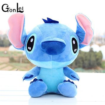 GonLeI Discount 20cm Kawaii Stitch Plush Toys Anime Lilo and Stitch Soft Stuffed Animal Dolls Stich Plush Children Birthday Gift