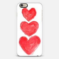 Triple Love- Red iPhone 6 case by Michele Spurza | Casetify