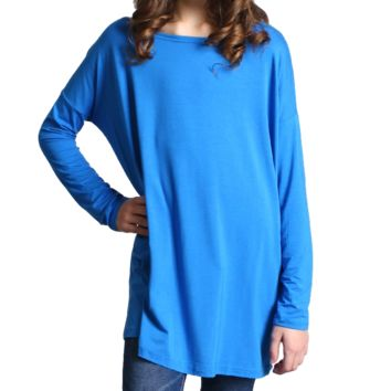 Snorkel Blue Piko Kids Long Sleeve Top