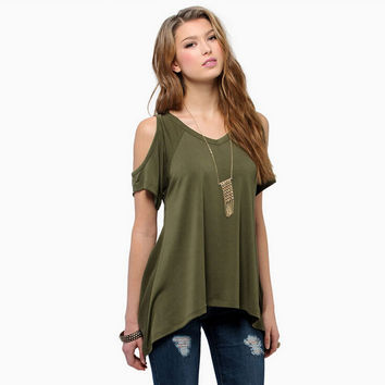 Summrt Strapless T-Shirts Top