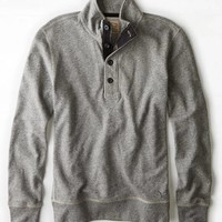 AEO VINTAGE FRENCH TERRY MOCK NECK