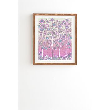 Renie Britenbucher Pink Owls Framed Wall Art