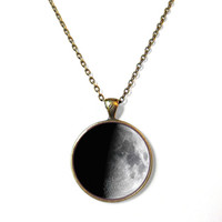 Half Moon Necklace - Pastel Goth Soft Grunge Jewelry