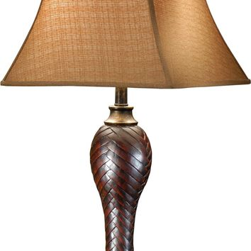 Woven Faux Leather Lamp