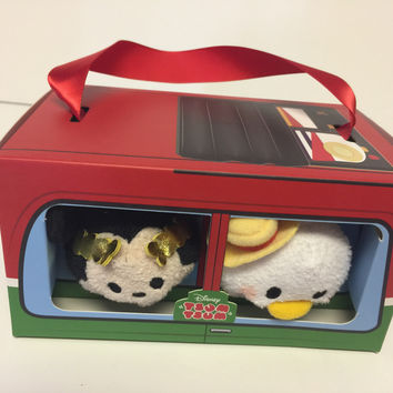 Disney Store Mini Tsum Plush Set Mickey & Donald Rome Italy New with Box
