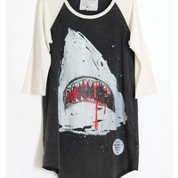 Shark Shirt White Sleeves