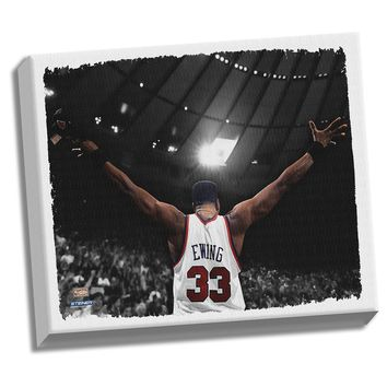 Patrick Ewing Arms Out Stretched 32X40 Canvas