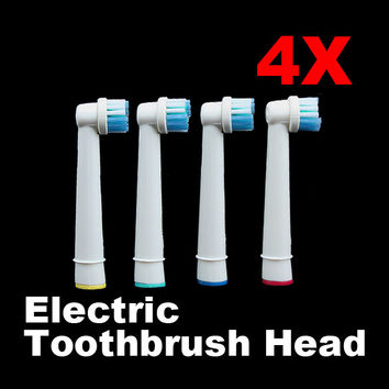 2017 4PCS New Fashion Tooth Brushes Head B Electric Toothbrush Replacement Heads for Oral Vitality Hygiene