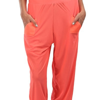 CLUEDO HAREM PANTS NEON ORANGE | THIS IS A LOVE SONG