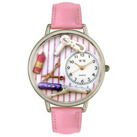 Whimsical Unisex Beautician Female Pink Leather Watch