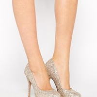 New Look Swept Gold Heeled Court Shoes