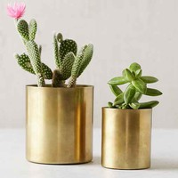 Mod Metal Small Planter- Gold One