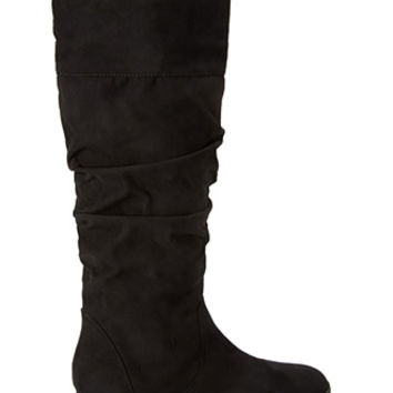 FOREVER 21 Knee-High Faux Suede Boots