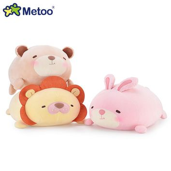Kawaii 34cm Metoo soft plush puppy pillow toys Panda,rabbit,teddy bear,lion stuffed cushion pillow dolls kids toys