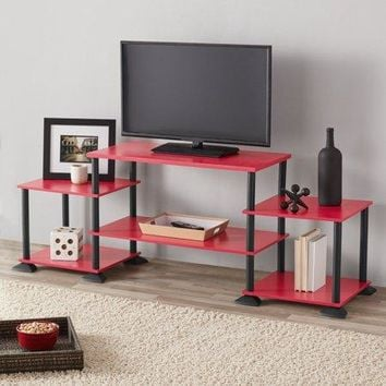 "Easy Setup No Tools Entertainment Center TV Stand up to 50"" Display Organizer"