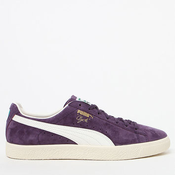 Puma Clyde Premium Core Purple Shoes at PacSun.com