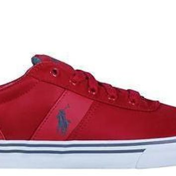Polo Ralph Lauren Mens Casual Sneakers Hanford RL Red Nylon