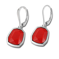 Women's Sterling Silver Coral Lever Back Earrings, EXUBERANCE Collection