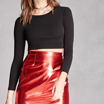 Kikiriki Faux Leather Skirt