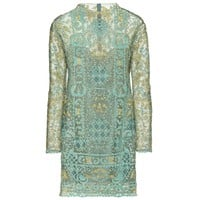 valentino - embroidered tulle dress