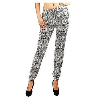 Lorena Print Joggers with Pockets - XL (12-14)