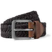 Paul Smith Shoes & Accessories Leather-Trimmed Waxed Woven-Cotton Belt | MR PORTER