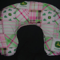 Nursing Pillow Cover -- Pink John Deere