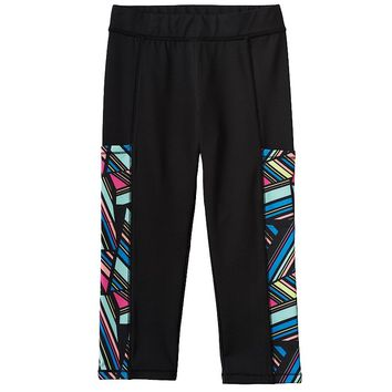 SO Geometric Yoga Capris - Girls' Plus, Size: