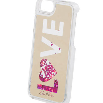 Edie Parker Floating Love Star Glitter Phone Case