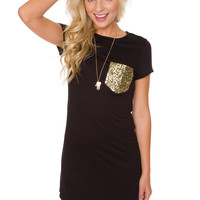 Pocket Size Dreams Dress - Black