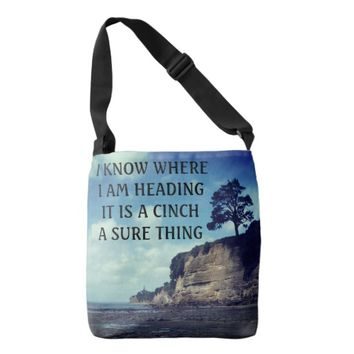 Cinch Photo Quote by Kat Worth Crossbody Bag