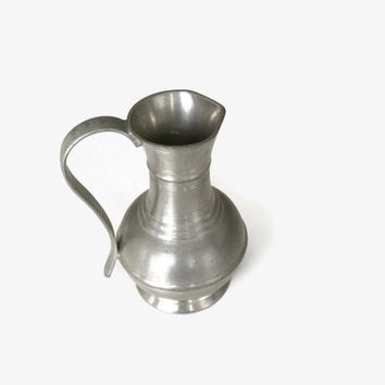 Pewter Pitcher, Small Pewter Jug, Vintage Pewter Pitcher, Pewter Creamer