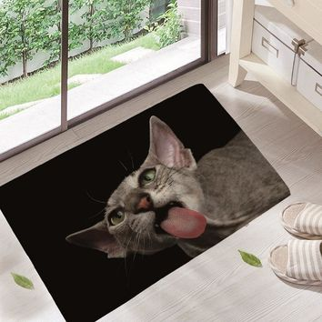 Autumn Fall welcome door mat doormat Lovely Dog Painting Dogs cat Carpets Anti-slip Floor Mat Outdoor Rugs Animal Front s 40x60 GA14 AT_76_7
