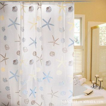 Super Deal Waterproof Fashion Star Bathroom  PEVA Shower Curtain bathroom curtain cortinas de bano cortina ducha XT