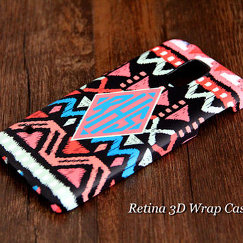 Native Geometric Custom Monogram 3D-Wrap Samsung Galaxy S5 Case Galaxy S4 Case Galaxy S3 Case Galaxy Note 3 and Note 2 Case